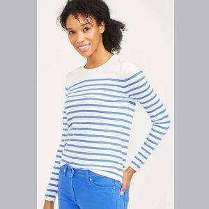 NWT J. McLaughlin Poet sweater blue white stripe S